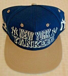 Vintage 1990s DREW PEARSON Yankees Baseball Hat Cap New MLB Snapback Jeter Rare