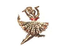 Bijou alliage doré broche danseuse brooch
