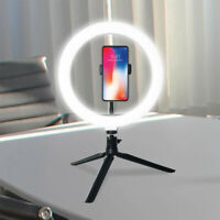 10'' LED Ring Light Lamp Selfie Camera Phone Studio Tripod Stand Video Dimmable