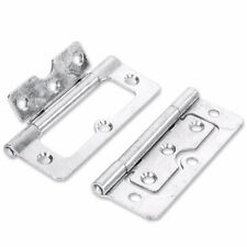 """7 PAIRS OF QUALITY 100mm/4"""" ZINC DOOR HINGES Cabinet/Hurl/Flush Fitting Silver"""