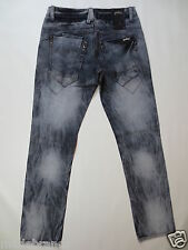 Jeans JUSTING LOS ANGELES Button Fly Slim Leg 32 used destroy TIP TOP/J325