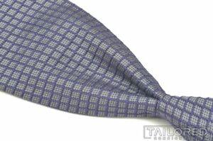 "TOM FORD Purple Geometric Check Silk Mens Luxury Tie - 3.50"""
