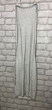PRETTY LITTLE THING DRESS SIZE 8 WHITE & SILVER MESH LOOK HALTER NECK BACKLESS