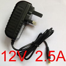 New 12V 2.5A 2500mA Switching Power Supply adapter AC 100V-240V DC 5.5mm UK plug
