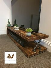 Industrial tv stand rustic entertainment stand