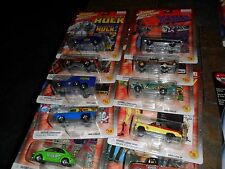 10 LOT MARVEL XMEN SPIDERMAN HULK WOLVERINE DAREDEVIL JOHNNY LIGHTNING VW BUG +