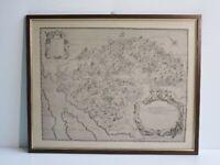 MAPPA PIANTINA CARTA GEOGRAFICA VALSASSINA NEL 1680 D.C. CON CORNICE E VETRO
