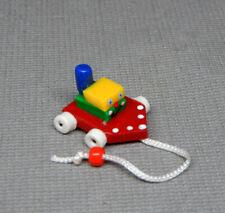 Vintage Nursery Tugboat Pull Toy Artisan Dollhouse Miniature 1:12