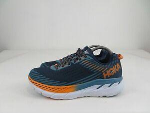 Hoka One One Clifton 5 Running Athletic Shoes Blue/Orange Mens Size 9.5 M