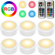 6× LED Remote Control Lights RGB Wireless Night Light Battery Cabinet Stair Lamp