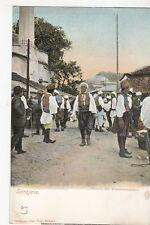 B78068 sarajevo bauern am wochenmarkte bosnia scan front/back image