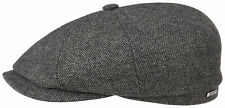 Stetson Wool Mix Bakerboy Cap Hat Hatteras 31 Gray Black New Trend