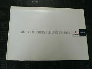 S334 SUZUKI BROCHURE POSTER ALL MODELS  2009 GSX-R750/600 YOSHIMURA,R1000,R750