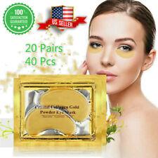 40pc 24K Gold Crystal Collagen Eye Mask Patch Gel Wrinkle Anti Aging Dark Circle