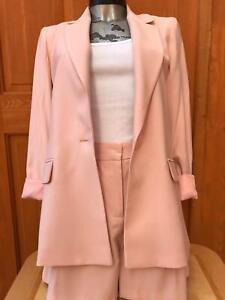 Ex Oasis short suit set -Blazer and shorts in pink sizes 8-18