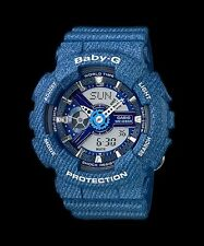 BA-110DC-2A2 Blue Casio Baby-G Ladies Watches Resin Band Fashion New Box