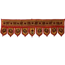 Indian Handmade Door Hanging Vintage Window Valance Embroidered Toran Topper