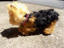 Hansa Shaggy Furry Black Tan Poseable Bendy Legs Yorkshire Terrier Plush Dog Pup