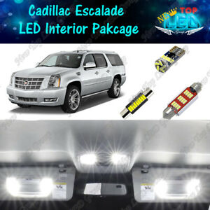 CANBUS White LED Lights Interior Package Kit for 2007 - 2014 Cadillac Escalade