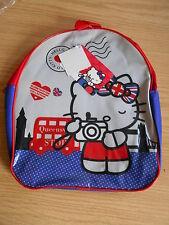 Kinderrucksack - Rucksack Hello Kitty - blau/rot/grau - Mädchen - NEU