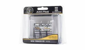 NIB HO Woodland Scenics JP5795 Just Plug Wise Tobacco Co. Billboard