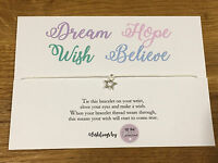 Personalised Wish Bracelet Inspirational Quote Believe Fairytale Birthday Gift
