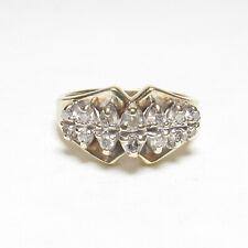 ALWAN VAHAN Estate 10K Yellow And White Gold Brilliant Cut Diamond Ring 0.25 Cts