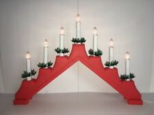 Red 7 Led lights candles Bridge –Great for Christmas indoor Window decoration