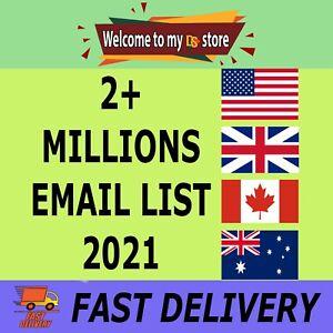 2+ Million ✔️✔️ Consumer Marketing & Business ✔️✔️ E-Mail List Database 2021 💌