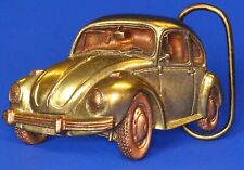 Vintage 1980 Bergamot Brass Works Volkswagen Beetle Belt Buckle USA *[16951]
