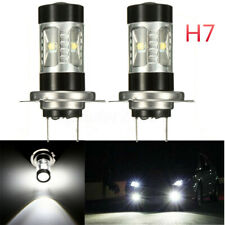 2X H7 60W LED Motorcycle Daytime Headlight Fog Light Bulbs Replacement White US