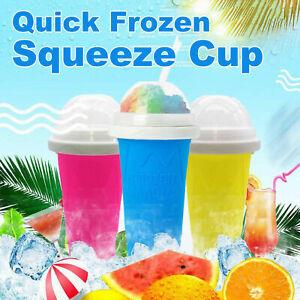 Magic Quick Frozen Smoothies Cup Cooling Cup Slushy Ice Cream Maker Slushy blue
