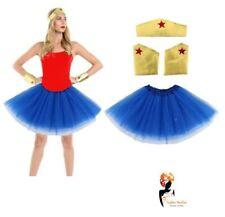 Ladies Girls SUPERHERO Diana Wonder Woman Fancy Dress COSTUME Cosplay Outfit