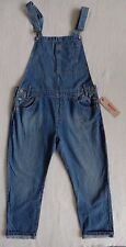 Levi's Women's Overalls 100% Cotton Blue Bib Overalls Relaxed Fit Size L