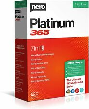 Nero Platinum 365 7 in 1 Suite - 1 Year for 1 PC/User - New Sealed Box