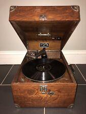 NICE RARE VINTAGE VICTOR VV-50 OAK 1922 RECORD PLAYER GRAMOPHONE PHONOGRAPH