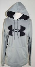 Under Armour UA Hoody Hooded LOOSE Sweatshirt  Women's S SM Gray & Black