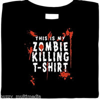 This Is My Zombie Killing T-Shirt, Walking Dead, Blood, funny, horror shirt