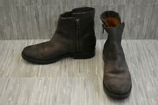 Frye Natalie Double Zip 3478491 Boots, Women's Size 8.5 B, Charcoal
