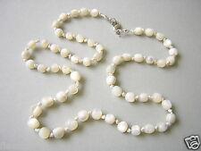 Kette mit Perlmutt Perlen geknotet 19,5 g /52 cm/Längen 0,5 - 0,6 cm