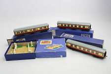 4 x Vintage Boxed HORNBY DUBLO Crossing, Restaurant Car & Carriages OO Gauge