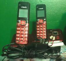 Vtech Red Cordless Phone V Tech 2 Lines