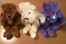 3 Ty Classic Bears: Baby Powder, Purplebeary, Taffybeary