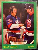 1973 O-Pee-Chee OPC Hockey #142 Billy Smith Islanders RC Rookie HOF NM-MT
