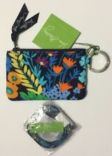NEW VERA BRADLEY ZIP ID CASE AND LANYARD  MIDNIGHT BLUE COLOR SET  GIFT
