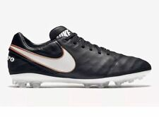New Mens Nike Tiempo Legacy II AG Soccer Cleats Sz 6 Black White 819217-010