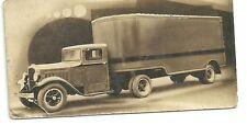 1920's HERMAN TRAILER SALES Co SEPIA PICTURE Adv. CARD, K C, Mo