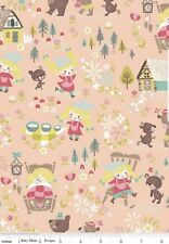 Goldilocks Main - Riley Blake - Coral - 1.25 Metre piece 100% cotton