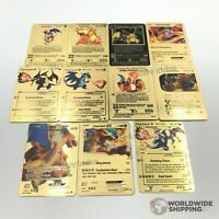 Carte Pokemon Gold Dracaufeu / Charizard Metal Card Fan Made EX GX Custom Shiny