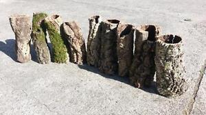 Kork Röhre: Natur Kork, Kork Rinde, Nager   gereinigt   60 cm lang, ⌀= 11-18 cm